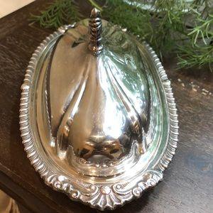Beautiful silver butter dish